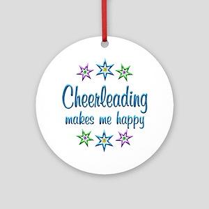 Cheerleading Happy Ornament (Round)