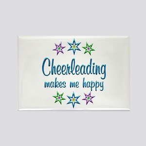Cheerleading Happy Rectangle Magnet