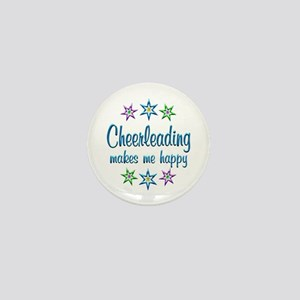Cheerleading Happy Mini Button