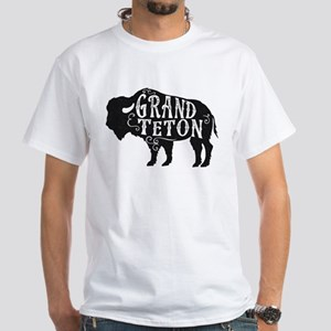 Grand Teton Buffalo White T-Shirt