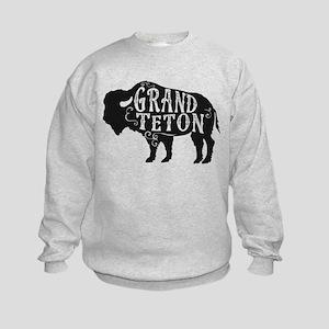 Grand Teton Buffalo Kids Sweatshirt