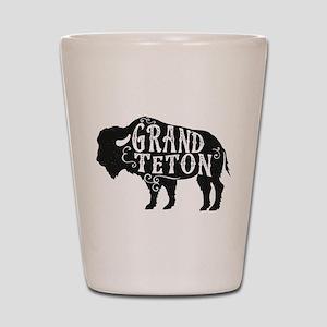Grand Teton Buffalo Shot Glass