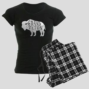 Grand Teton Buffalo Women's Dark Pajamas
