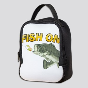 Fish On Neoprene Lunch Bag