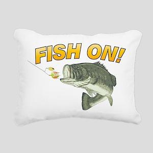 Fish On Rectangular Canvas Pillow