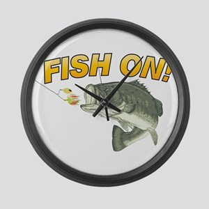 Fish On Large Wall Clock