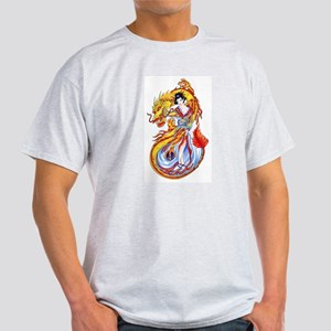 Geisha and Dragon Light T-Shirt