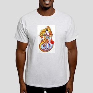 Geisha and Dragon Light T-Shirt