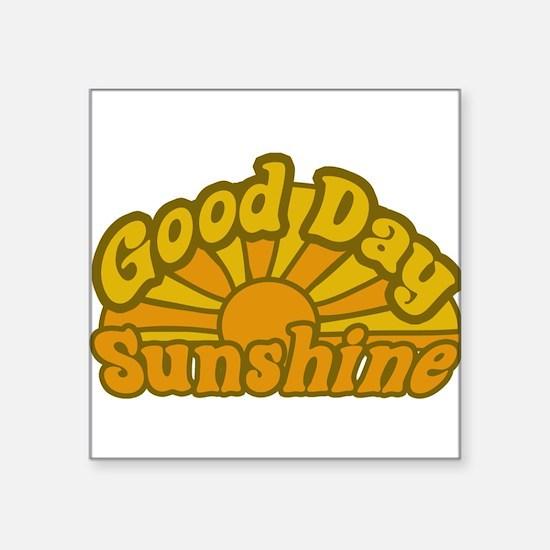 """Cute Sun Square Sticker 3"""" x 3"""""""