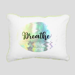 Breathe Rectangular Canvas Pillow