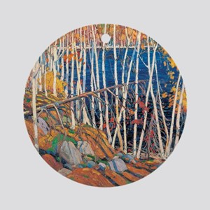Tom Thomson - In the Northland Round Ornament