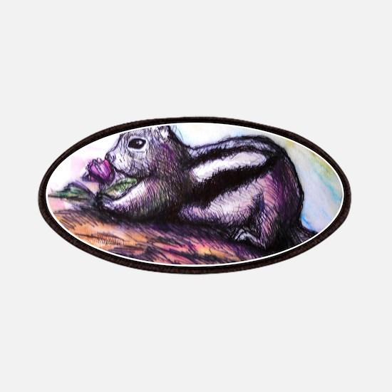 Chipmunk, wildlife art Patches