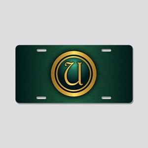 Irish Luck U Aluminum License Plate
