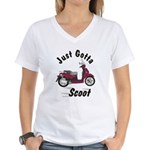 Just Gotta Scoot People 250 Women's V-Neck T-Shirt