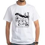 Fire Cartoon 3603 White T-Shirt