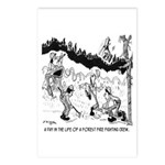 Fire Cartoon 3603 Postcards (Package of 8)