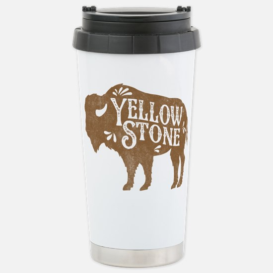 Yellowstone Buffalo Stainless Steel Travel Mug