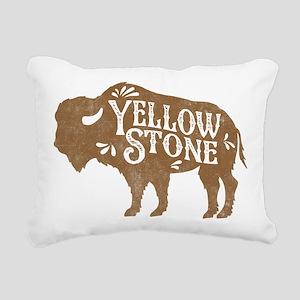 Yellowstone Buffalo Rectangular Canvas Pillow