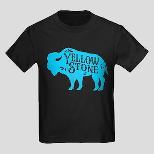 Yellowstone Buffalo Kids Dark T-Shirt