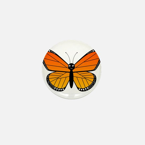 Monarch Butterfly Mini Button