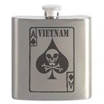 VIETNAM DEATH CARD Flask