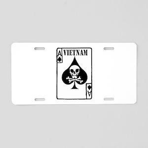 VIETNAM DEATH CARD Aluminum License Plate