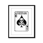 VIETNAM DEATH CARD Framed Panel Print
