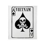 VIETNAM DEATH CARD Throw Blanket