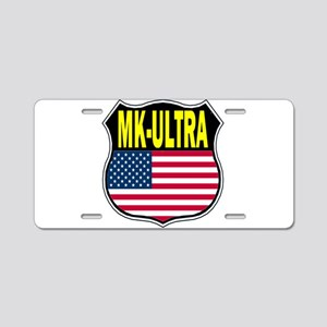 PROJECT MK ULTRA Aluminum License Plate