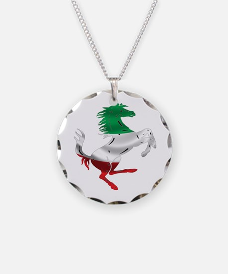 Italian Stallion Italy Flag Necklace