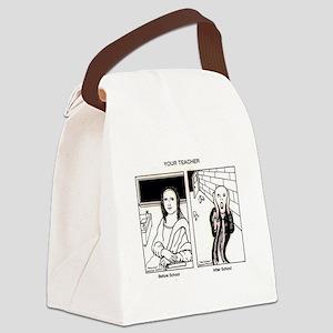 TeacherBeforeAfterSchool Canvas Lunch Bag