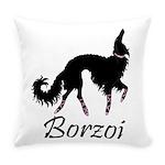 Ballet Borzoi Beauty In Black Everyday Pillow