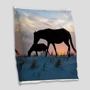 Onward Bound Burlap Throw Pillow