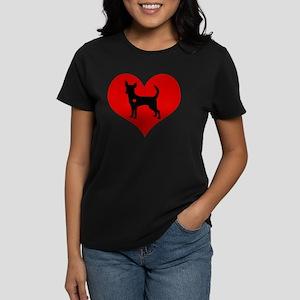 Chihuahua Heart Women's Dark T-Shirt