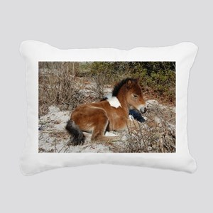 Trots Alot, Wild Horse Rectangular Canvas Pillow