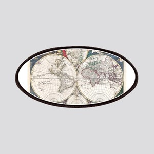 Vintage Map of The World (1685) Patches