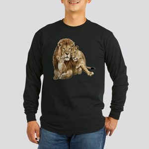 Lion And Cubs Long Sleeve T-Shirt