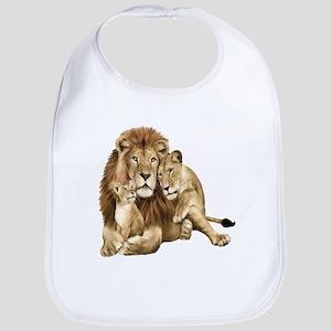 Lion And Cubs Bib