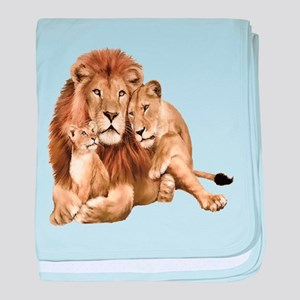 Lion And Cubs baby blanket