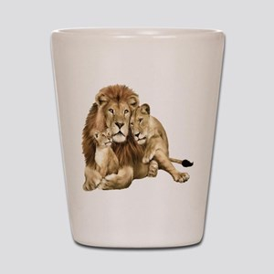 Lion And Cubs Shot Glass