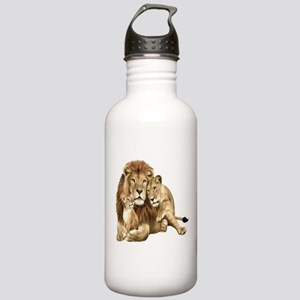 Lion And Cubs Water Bottle