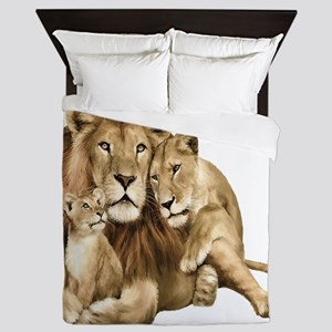 Lion And Cubs Queen Duvet