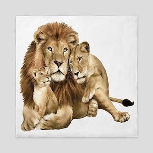 Lion And Cubs Queen Duvet