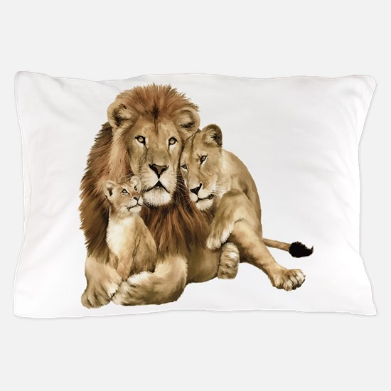 Lion And Cubs Pillow Case