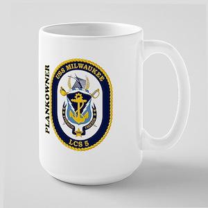 Uss Milwaukee Plankowner Large Mug Mugs
