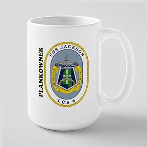 Uss Jackson Plankowner Large Mug Mugs