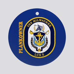 USS Milwaukee Plankowner Ornament (Round)