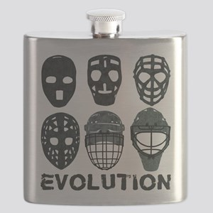 Hockey Goalie Mask Evolution Flask