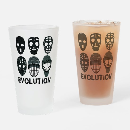 Hockey Goalie Mask Evolution Drinking Glass