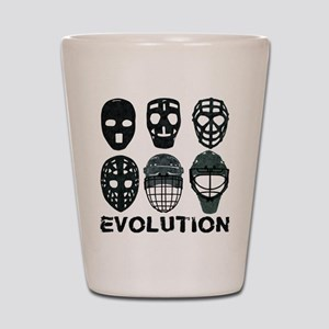 Hockey Goalie Mask Evolution Shot Glass